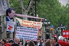 Anti-TTIP protests in Barcelona, 18 April 2015