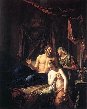 Sarah Presenting Hagar to Abraham (1699 painti...