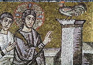 Mosaic in Basilica of Sant'Apollinare Nuovo. P...