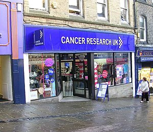 English: Cancer Research UK Shop - Ivegate