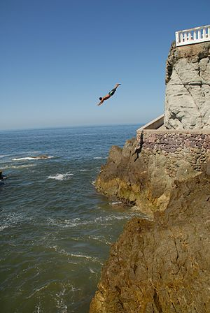 English: Cliff Diver, MAZATLAN