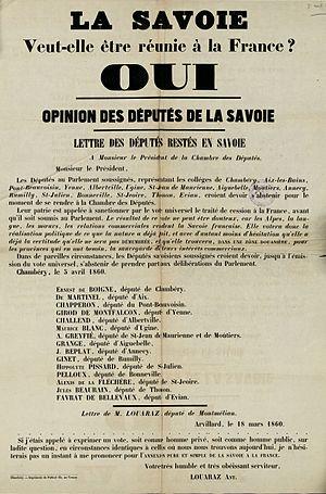 Français : La Savoie veut-elle être réunie à l...
