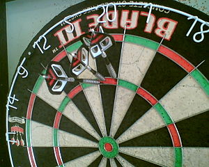 the top score at a dart game