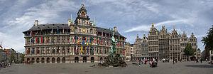 Grote Markt in Antwerp - panorama