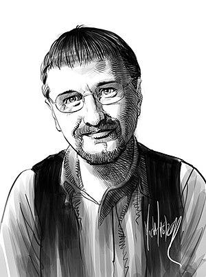 English: Portrait Illustration of comics artis...