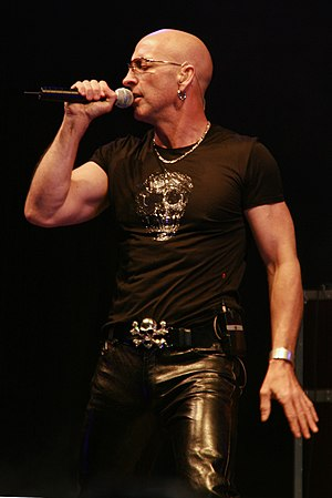Richard Fairbrass of Right Said Fred; performa...