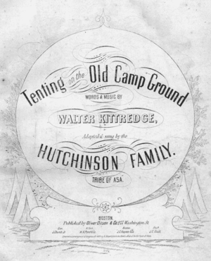 "Cover of sheet music for ""Tenting on the ..."