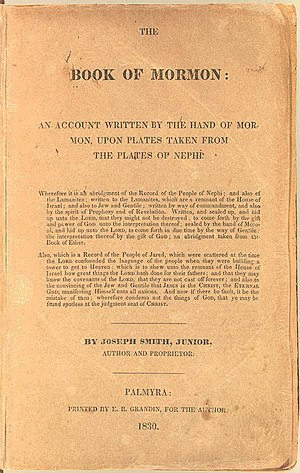 English: Title page of a 1830 copy of The Book...