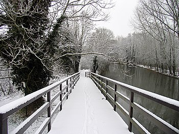 English: The Footbridge and Canal: The Slipper...