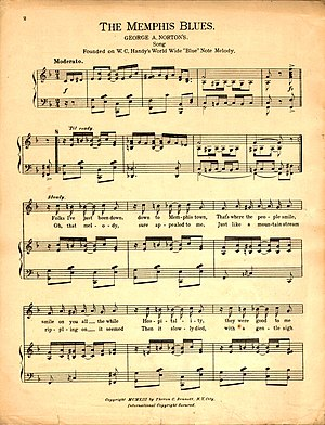 "English: Sheet music of W. C. Handy's ""Th..."