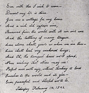 Handwritten Valentine poem by Virginia Eliza C...