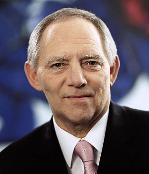 Deutsch: Porträtfoto von Dr. Wolfgang Schäuble...