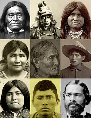 Collage of Apache portraits from public domain...