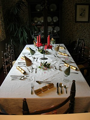 Boxing day dinner table