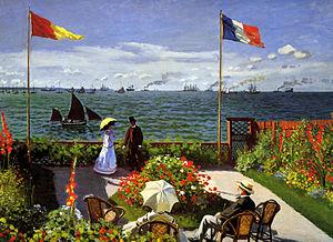 Painting: Terrace at Sainte-Adresse.