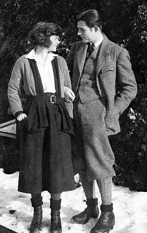 English: Winter, 1922 Ernest Hemingway and Had...