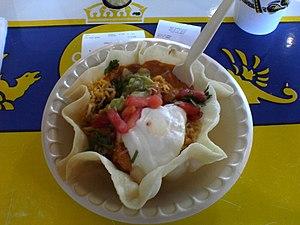 A taco salad from Taco Cabana.