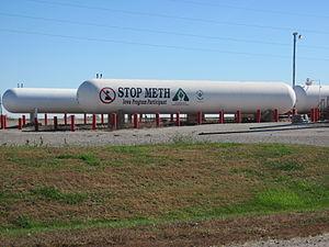 """English: Anti-meth sign (""""Stop Meth""""..."""