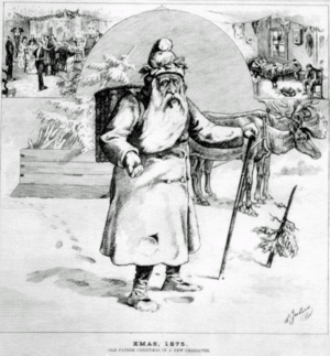 Canadian Santa Claus drawing from 1875