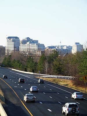 View of Route 267 from the Wiehle Avenue exit