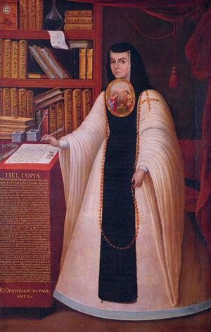 Retrato de Sor Juana Inés de la Cruz. Patrimon...