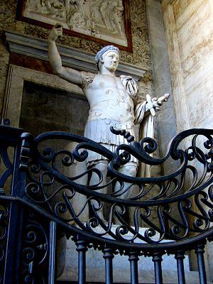 English: In the porch of S. Giovanni in Latera...