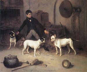 Jem Burns' Four Pets. The kennel boy, Jack She...