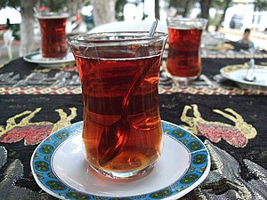 English: Turkish tea