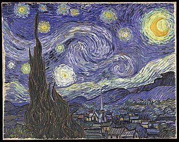English: The Starry Night Oil on canvas 73 × 9...
