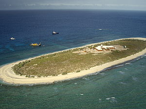 Aerial view of Willis Island