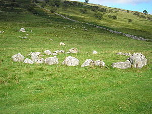 English: Yockenthwaite Stone Circle A small (2...