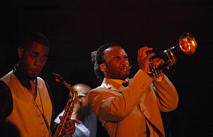 Nathaniel Facey (sax) and Abram Wilson (trumpet)