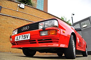 The Audi Quattro from the BBC series Ashes To ...