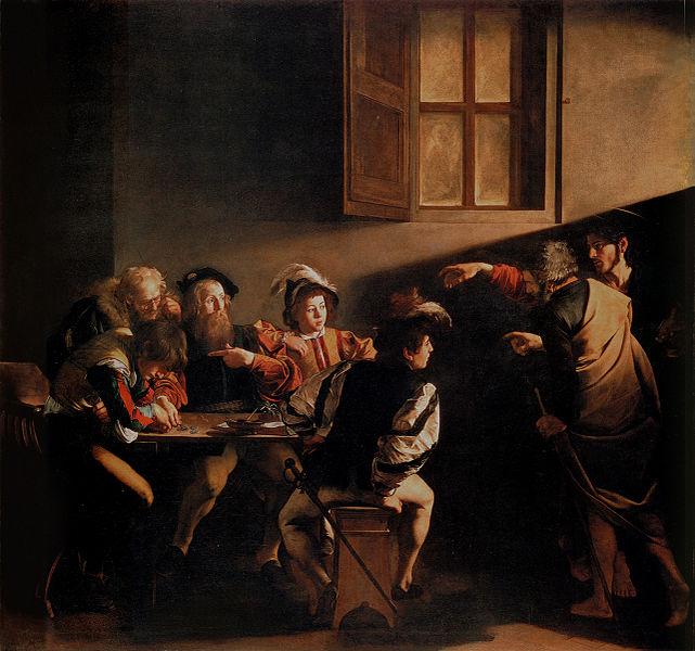 File:Caravaggio, Michelangelo Merisi da - The Calling of Saint Matthew - 1599-1600 (hi res).jpg