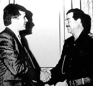 Carlos Cardoen meets with Iraqi Leader Saddam ...