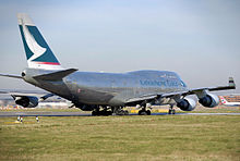 Cathay Pacific Cargo Boeing 747-400BCF at London Heathrow Airport