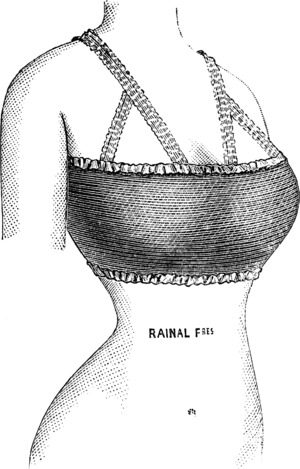 A therapeutic elastic breast girdle for 'breas...