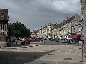 English: Fairford: Market Square