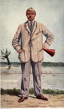 A Vanity Fair portrait of R H Forster in their Rowers of Vanity Fair series