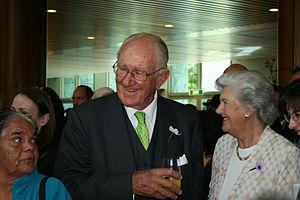 Malcolm Fraser at the apology to the Stolen Ge...