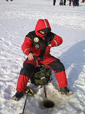 Ice fishing in the Finnish Miljoonapilkki fish...