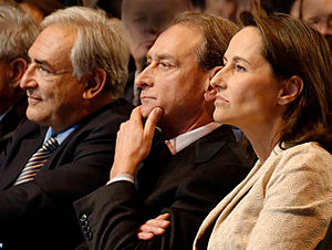 From left to right: Dominique Strauss-Kahn, Be...