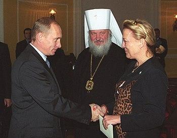English: Vladimir Putin, Metropolitan Kirill, ...