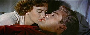 Cropped screenshot of Natalie Wood and James D...