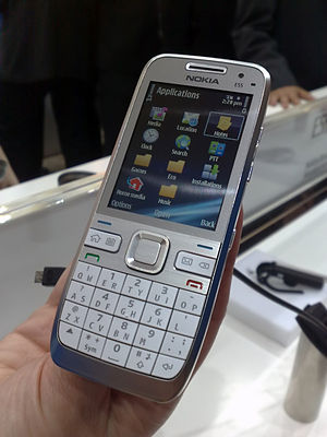 Nokia's fancy new slim E-Series candybar. Comp...