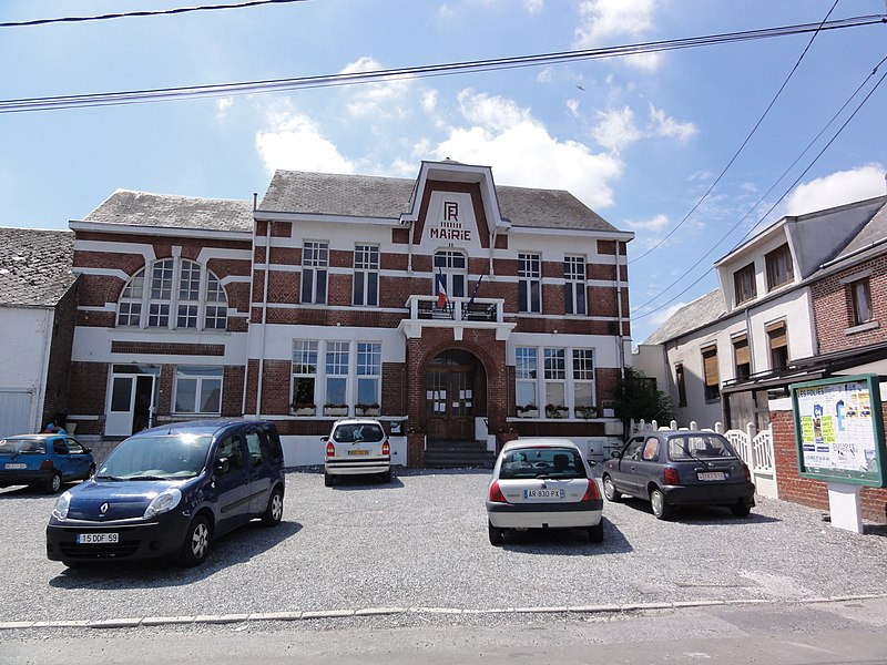 Fichier:Villers-Sire-Nicole (Nord, Fr) mairie.JPG