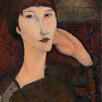 Adrienne (Woman with Bangs) by Amedeo Modigliani