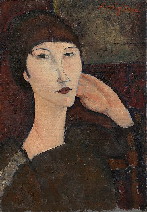 Amedeo Modigliani - Adrienne (Woman with Bangs)