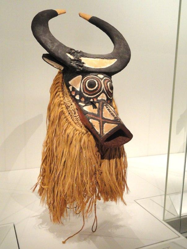 Bush Buffalo Mask, early-mid 1900s, Western Sudan, Burkina Faso, possibly Bwa people, wood, fibers - Cleveland Museum of Art - DSC08709.JPG