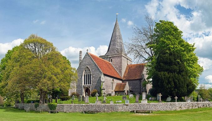 Church of St. Andrew, Alfriston, England Crop - May 2009